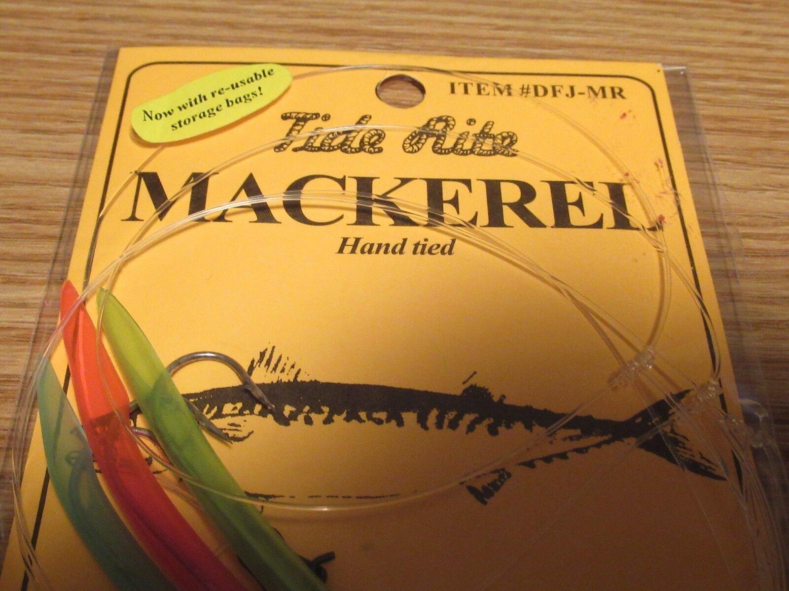 12 TIDE RITE MACKEREL 3 DROP TREE TUBE DFJ-MR BAIT FISH MACKERAL  FISHING RIGS