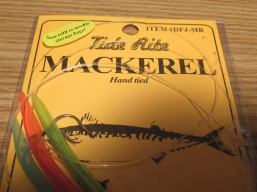 24 TIDE RITE MACKEREL 3 DROP TREE TUBE DFJ-MR BAIT FISH MACKERAL  FISHING RIGS