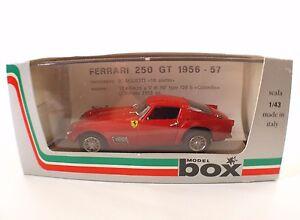 Model Box ref. 8405 Ferrari 250 GT Prova 1956 1/43 mint neuf - France - État : Neuf: Objet neuf et intact, n'ayant jamais servi, non ouvert. Consulter l'annonce du vendeur pour avoir plus de détails. ... Fabricant: Model Box Echelle: 1/43 Type: Voiture: passager Couleur dominante: Rouge Marque: model box Numéro de - France