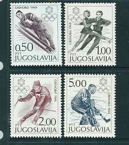 Yugoslavia-1968-Winter-Olympics-set-of-4-unmounted-mint