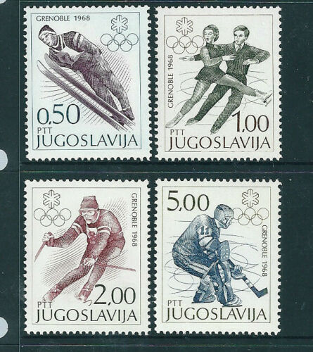 Yugoslavia 1968 Winter Olympics set of 4 unmounted mint.