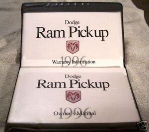 LOOK-1996-Dodge-Ram-P-U-Owners-Manual-Set-96