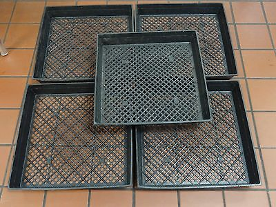 """5 Pack Of Large 17"""" X 17"""" Planting Tray W/ Drainage Holes For Wheatgrass Sprouts Kan Herhaaldelijk Worden Omgedraaid."""