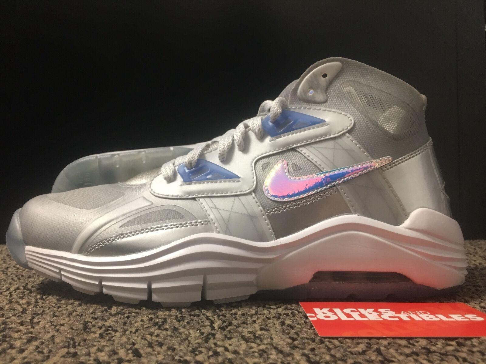 Nike 646797 001 LUNAR 180 TRAINER Sliver SC PRM QS 8.5 Sliver TRAINER Ice Blue SUPERBOWL PACK dda4eb