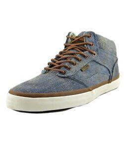 a456d2d07f VANS Bedford + Acid Denim Blue Canvas High Top Skateboard Shoes ...