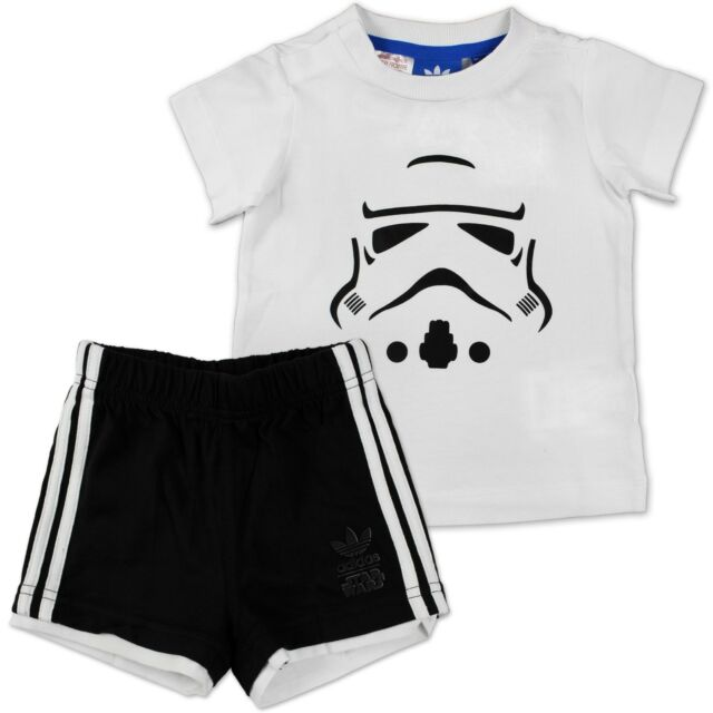 6335ebefe3 Adidas Star Wars morte Nera Yoda Vestito Set Bambino Pantaloni Shirt 68