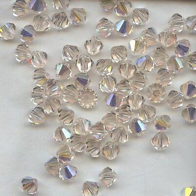 lot de  10 perles en cristal de Swarovski  vintage jet noir 10 mm