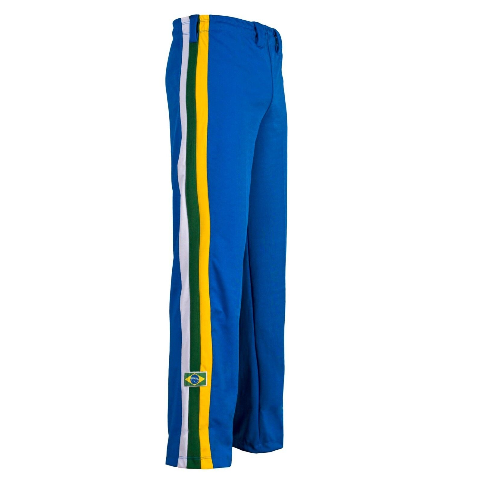 Unisex bluee Brazil Capoeira Abada Martial Arts Elastic Trousers Pants 6 Sizes