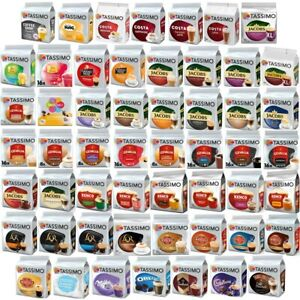 Tassimo Pods (Coffee, Tea, Hot Chocolate T-Discs, Capsules) 50+ Blends Free P&P