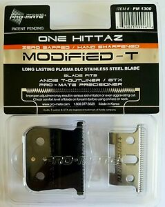 PRO-MATE-ONE-HITTAZ-MODIFIED-REPLACEMENT-BLADES-Fits-Andis-T-Outliner-GTX