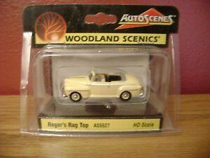 "Auto Scenes ""Roger's Rag Top"" /  Die-Cast 1:87 Woodland Scenics NEW"