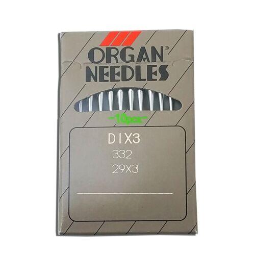 10 ORGAN  29X3 SHOE PATCHER SEWING NEEDLES 332 DIX3 3741 SINGER 29K 29-4 29