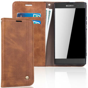 uk availability 0c74b 3aa05 Details about Phone Case Sony Xperia Xa2 Flip Cover Case Case Wallet Case  Braun