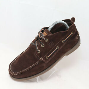 SPERRY-TOP-SIDER-Men-039-s-Sz-9-Dark-Brown-Soft-Suede-Leather-Boat-Shoe-Chukka-Boot