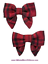 Gymboree NWT 2-pc Red CLASSIC HOLIDAY SILK PLAID BOW CLIPS DRESS HAIR ACCESSORY