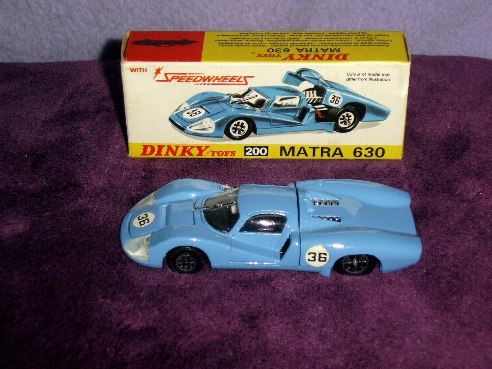 DINKY 200 MATRA 630 Le Mans in condizione superba con scatola originale.