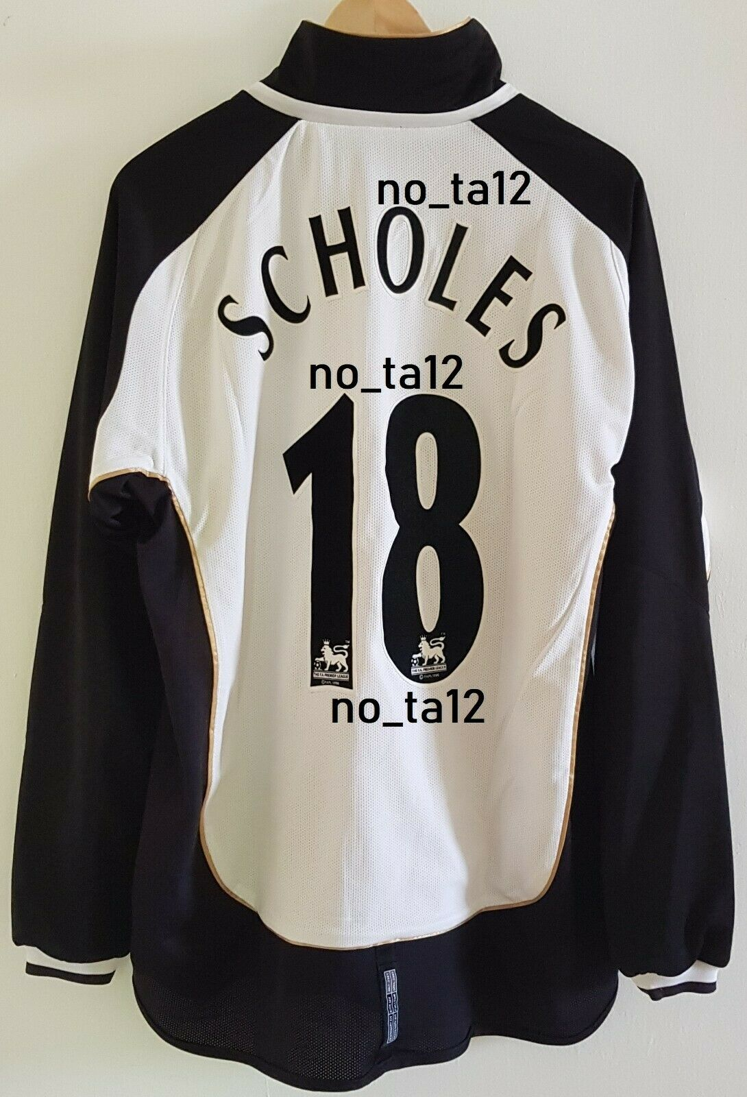 Manchester United Jersey Camisa 2001 2002 Raro Retro Centenario Scholes, hombre Unidos