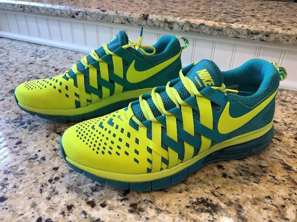 Nike Fingertrap Max Training Shoes Volt/Turbo Green Men Sz 13 Running