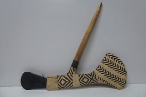OLD PNG NEW GUINEA CARVED MT HAGEN WOVEN STONE HEAD AXE CEREMONIAL