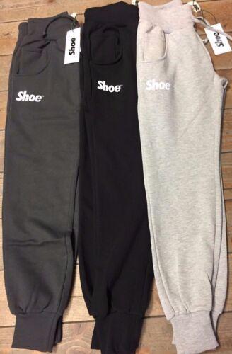 Pantalone tuta uomo invernale Shoe Shine tasche pantapolsino zip palestra sport