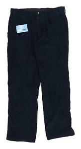 Marks-amp-Spencer-Mens-Blue-Corduroy-Trousers-Size-W34-L31