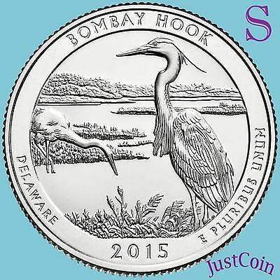 2015-S Bombay Hook Wildlife Refuge Quarter Choice BU