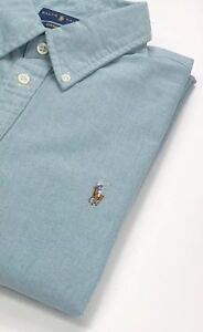 Verte Chemise Femme Ajustée Taille Ralph Lauren Oxford Coupe Xl Pour Xq5w67