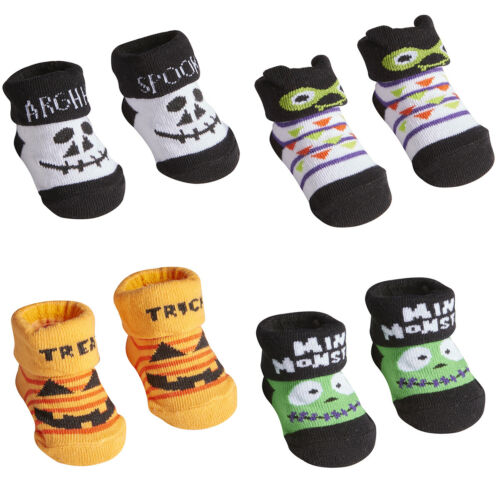 Newborn Infant Baby Boys Girls Unisex Novelty Halloween Booties Multipack 0-12m