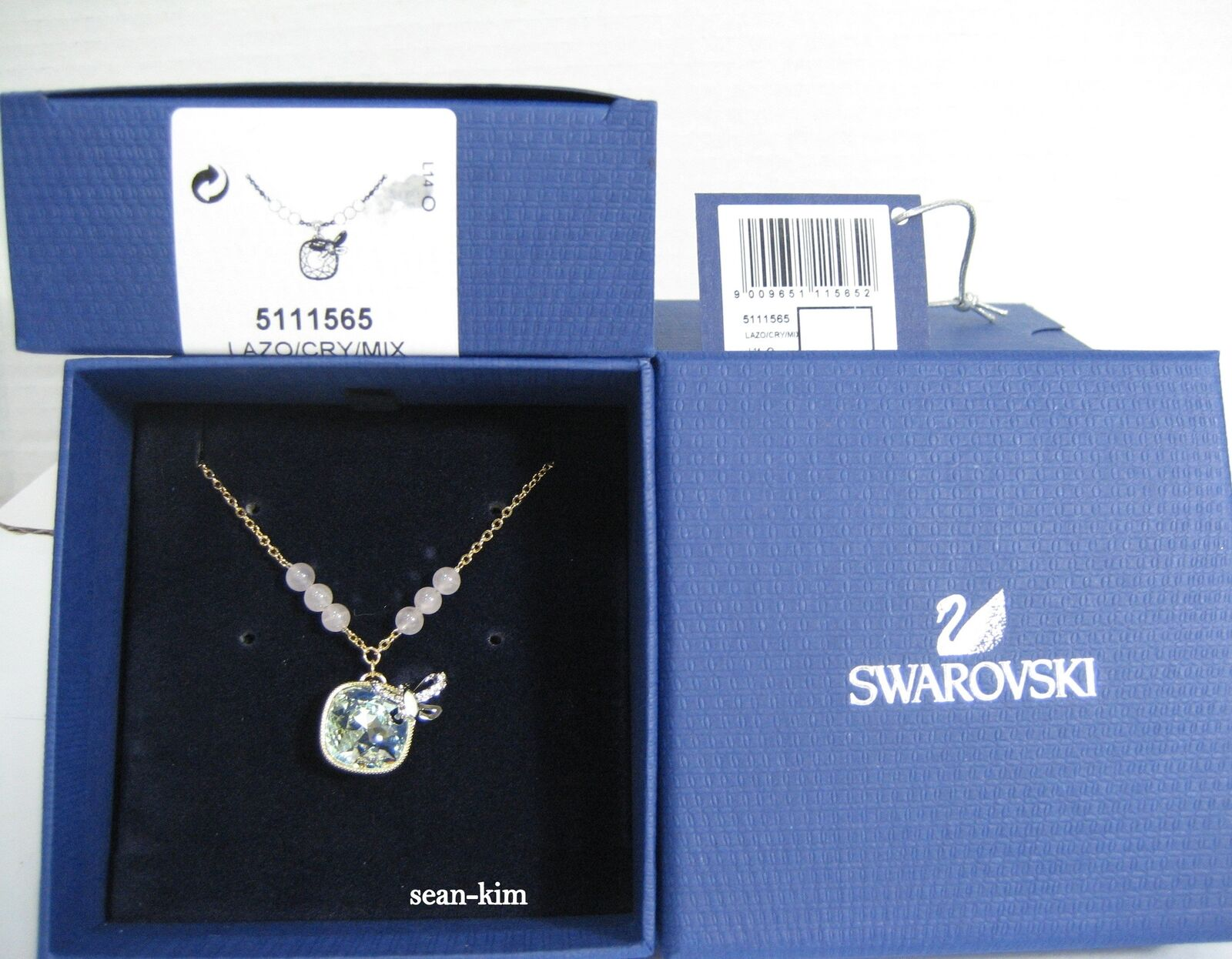 38c701939 Swarovski Candy Square Pendant pastel-colord MIB 5111565 Butterfly ...