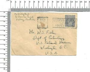 1931 Sydney N.S.W. Posted pillar box to Washington USA; 60166