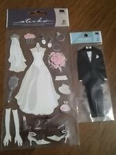 EK Success Jolees Boutique 3D embellishments ~ Bride & Groom. See pics