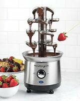 Chocolate Fondue Fountain Cascading Stainless Steel 4 Tier Kitchen Free Shipping on sale