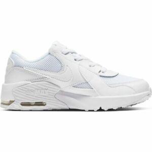 Dettagli su Scarpe sportive bimbo Nike Air Max Excee PS CD6892 100 Bianco pelle mesh