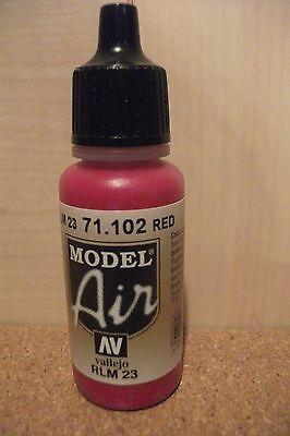 Av Vallejo Model Air Red rlm 23 Airbrush Paint Val102