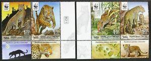 B183-ISRAEL-2011-WWF-Leopards-set-of-4-MNH