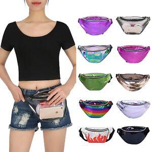 64797706a92c Details about Shiny Neon Fanny Bag Rave Festival Hologram Bum Travel Waist  Pack Women Men