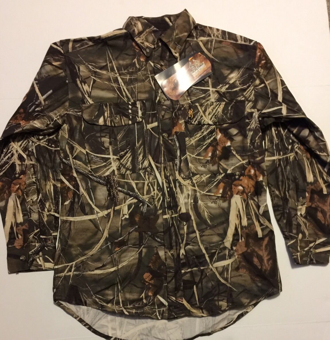 Browning Wasatch  Feildwear Long Sleeve Button Up Max4 Size Med NWT  a lot of concessions