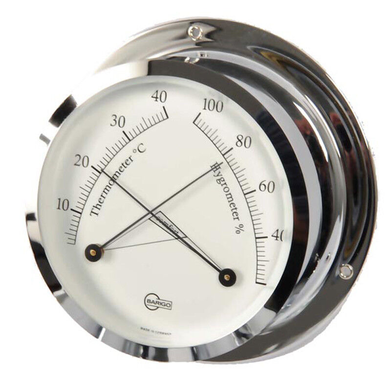 ThermoHygrometer chrom analog Barigo Star chrom ThermoHygrometer 110mm bdb73f