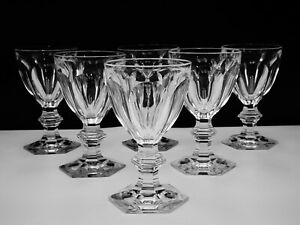 6-BACCARAT-CRYSTAL-034-HARCOURT-1841-034-CLARET-WINE-GLASSES-HAND-CRAFTED-IN-FRANCE