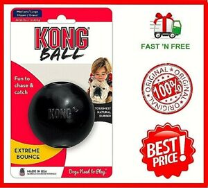 Kong-Extreme-Ball-Dog-Toy-Black-Medium-Large-Free-amp-Fast-Shipping