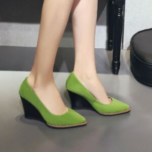 Chic-Womens-Low-Mid-High-Heels-Platforms-Wedge-Casual-Pump-Work-Court-Shoes-Size