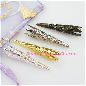 Art & Craft Supplies 30Pcs Antiqued Gold Tone Cone Flower End Bead Caps Connectors 9mm