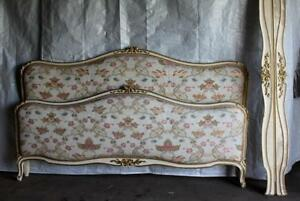 VINTAGE-FRENCH-CAPITONNE-BED-200CM-WIDE-UPHOLSTERED-ANTIQUE-from-The-Ritz-Paris