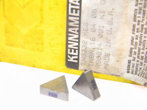 NEW-SURPLUS-10PCS-KENNAMETAL-TNG-332-GRADE-K68-CARBIDE-INSERTS