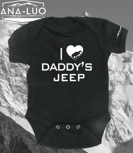 I Heart Daddy/'s Jeep Baby Clothes ***Free Shipping***