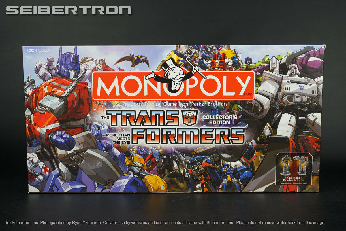 Transformers G1 Collector's Edition Monopoly UNUSED USAopoly board game