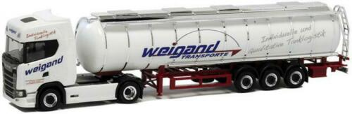 Herpa camiones scania CS 20 topl//aerop alimentos-Tank-SZ Weigand