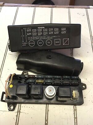 85 toyota celica fuse box diagram 85 toyota celica underhood engine fuse box assembly ebay  toyota celica underhood engine fuse box