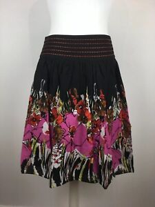 M-amp-Co-Mid-length-Cotton-Floral-Skirt-boho-sequin-detail-BNWT-UK-Size-16