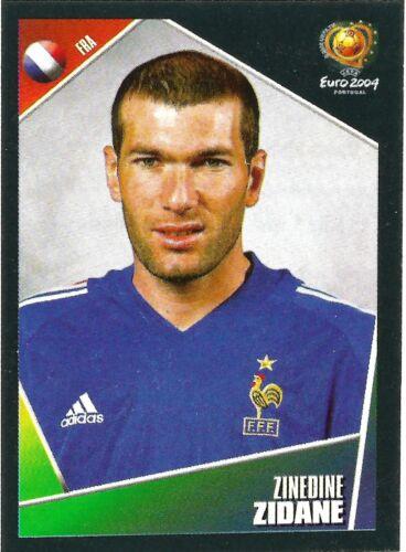 Panini UEFA EURO 2004 Zinedine Zidane Pegatina no 107